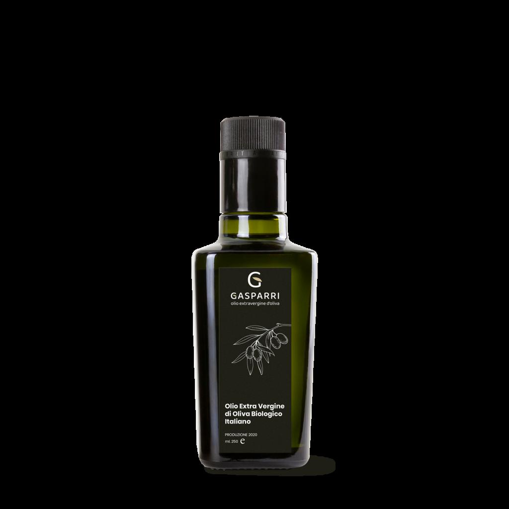 olio biologico italiano gasparri bottiglia 250ml